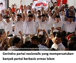 Gerindra mempersatukan parpol berbasis ormas Islam
