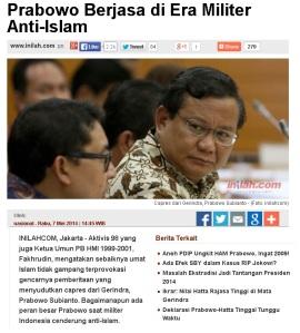 Prabowo versus Militer anti Islam