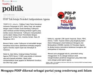 PDIP cenderung anti Islam