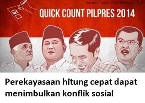 quick count dan konflik sosial