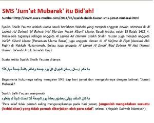 tidak pernah dilakukan oleh para Salaf