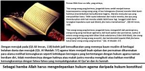 Hukum agama di atas hukum konstitusi