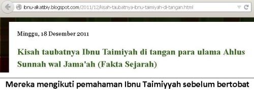 pemahaman ibnu taimiyyah sebelum bertobat