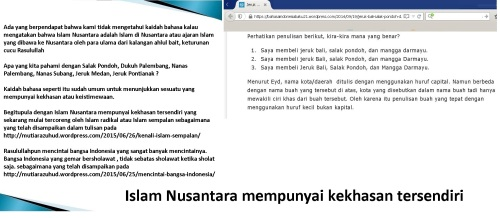 Islam Nusantara mempunyai kekhasan tersendiri
