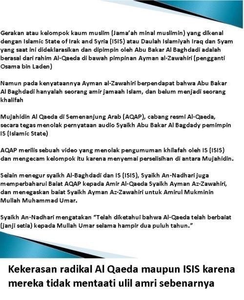 kekerasan radikal al qaeda dan isis
