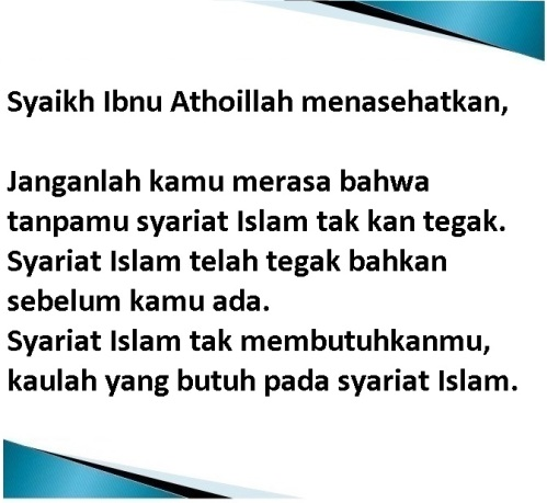 syariat islam telah tegak