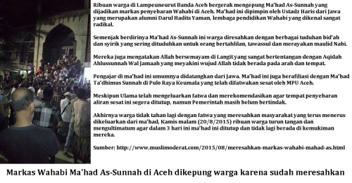 Markas Wahabi di Aceh