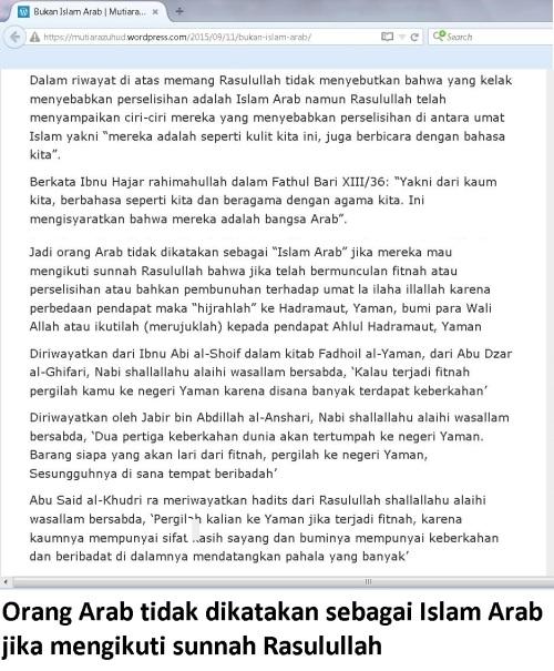bukan Islam Arab