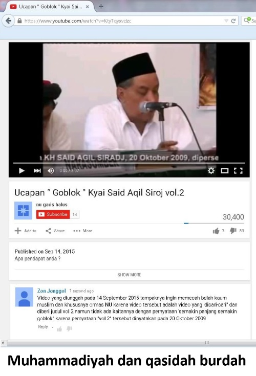 muhammadiyah dan qasidah burdah