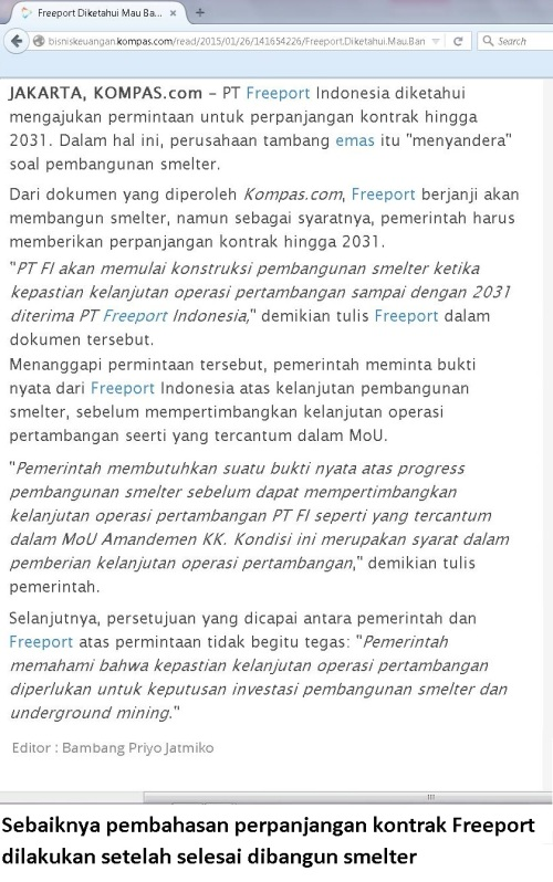 kontrak freeport