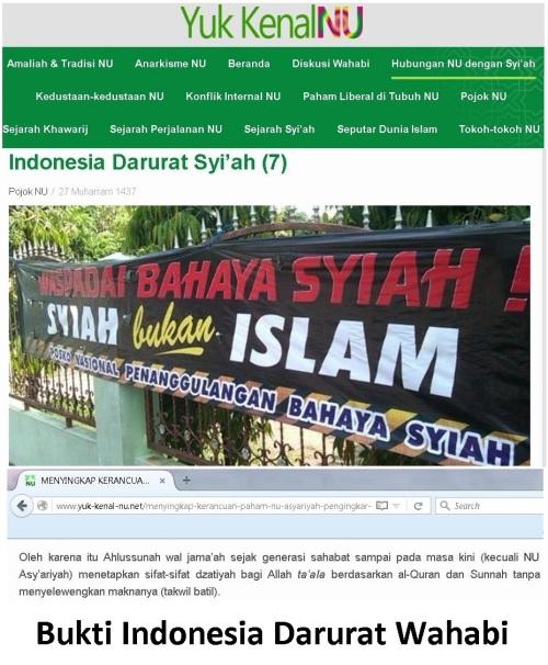 bukti indonesia darurat wahabi