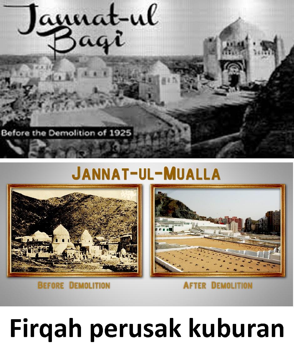 Firqah Perusak Kuburan Mutiara Zuhud Letakkan Dunia Pada