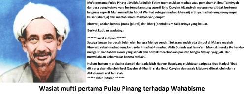 Wasiat mufti Pulau Pinang