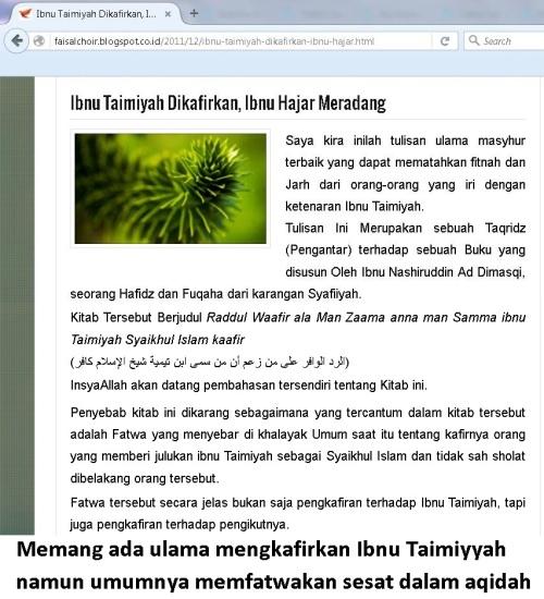ibnu taimiyyah dikafirkan