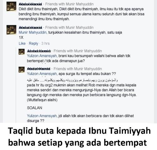 Taqlid buta kepada Ibnu Taimiyyah