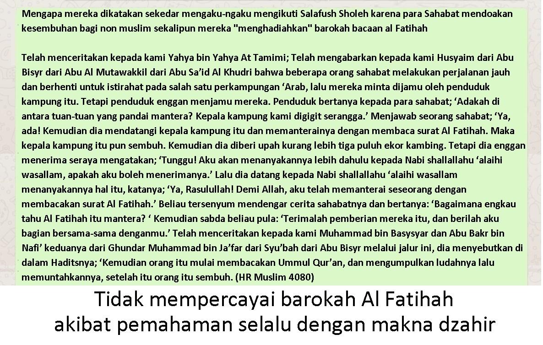 Barokah Al Fatihah Mutiara Zuhud Letakkan Dunia Pada