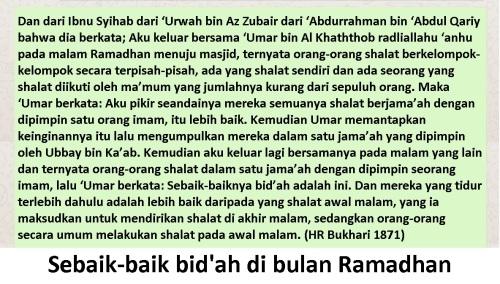 bidah bulan ramadhan