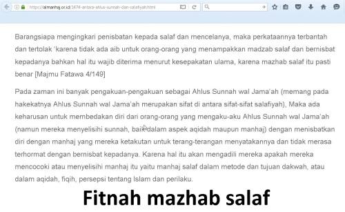 Fitnah mazhab salaf
