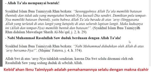 kebidahan Ibnu Taimiyyah